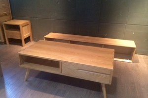 Modern furniture in oak wood